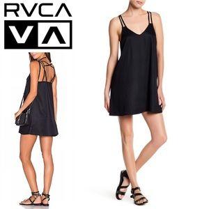 NWT: RVCA BLACK SLEEVELESS V NECK DRESS